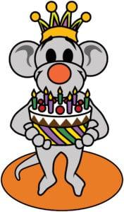 Verjaardagskalender muis